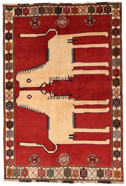 Ghashghai Matta 142X212 Äkta Orientalisk Handknuten Roströd/Mörkröd (Ull, Persien/Iran)