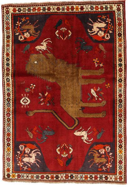 Ghashghai Matta 131X192 Äkta Orientalisk Handknuten Roströd/Röd (Ull, Persien/Iran)