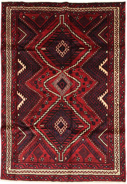 Lori Matto 174X254 Itämainen Käsinsolmittu Musta/Tummanpunainen (Villa, Persia/Iran)