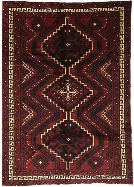 Lori Rug 176X248 Authentic  Oriental Handknotted Dark Brown/Dark Red (Wool, Persia/Iran)