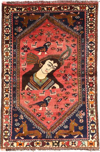 Ghashghai Matta 105X160 Äkta Orientalisk Handknuten Mörkbrun/Svart (Ull, Persien/Iran)