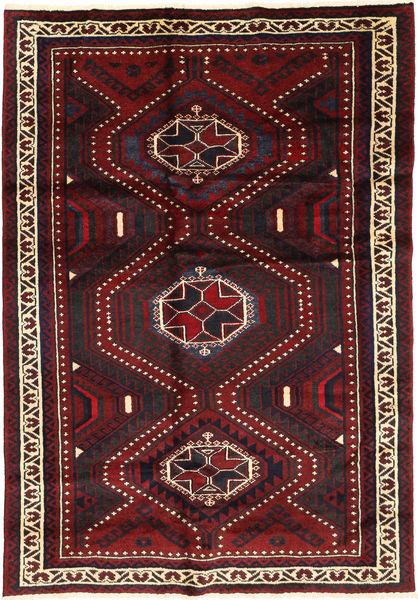 Lori Teppe 170X254 Ekte Orientalsk Håndknyttet Mørk Rød (Ull, Persia/Iran)