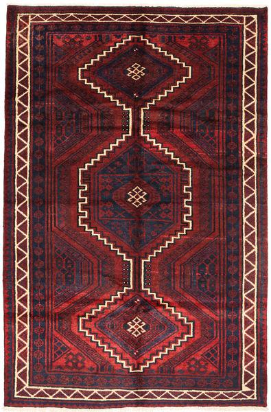 ロリ 絨毯 163X248 オリエンタル 手織り 深紅色の/濃い茶色 (ウール, ペルシャ/イラン)