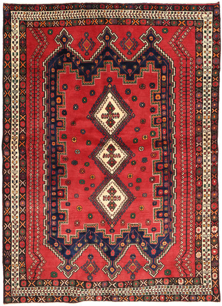 Afshar Matto 160X225 Itämainen Käsinsolmittu Tummanpunainen/Tummanruskea (Villa, Persia/Iran)