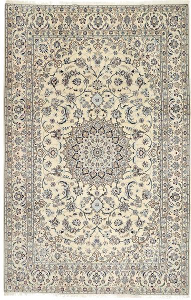 Nain 9La Rug 198X310 Authentic  Oriental Handknotted Beige/Light Grey (Wool/Silk, Persia/Iran)