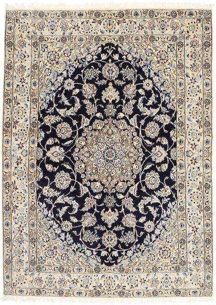 Nain 9La Matto 155X212 Itämainen Käsinsolmittu Vaaleanharmaa/Tummanvihreä (Villa/Silkki, Persia/Iran)