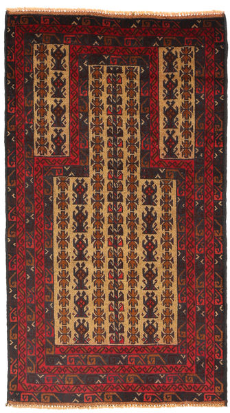 Baluch Rug 82X138 Authentic  Oriental Handknotted Dark Red/Black (Wool, Afghanistan)