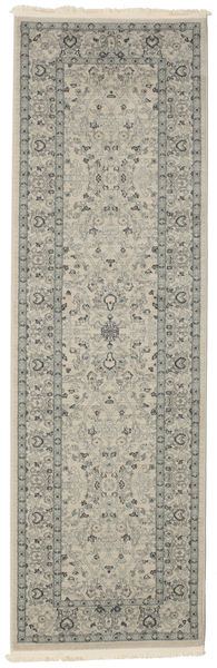 Ziegler Michigan - Green/Beige Rug 80X250 Oriental Hallway Runner  Light Grey/Dark Grey ( Turkey)
