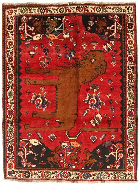 Gashgai Alfombra 134X173 Oriental Hecha A Mano Óxido/Roja/Rojo Oscuro (Lana, Persia/Irán)