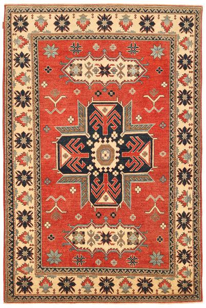Kazak Matto 183X279 Itämainen Käsinsolmittu Ruskea/Oranssi (Villa, Pakistan)