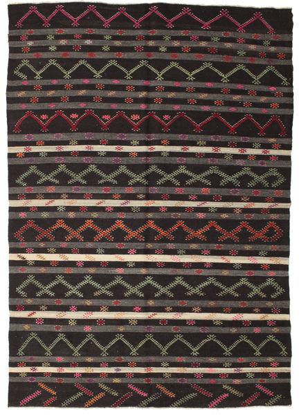 Kilim semi antique Turkish rug XCGZF1366