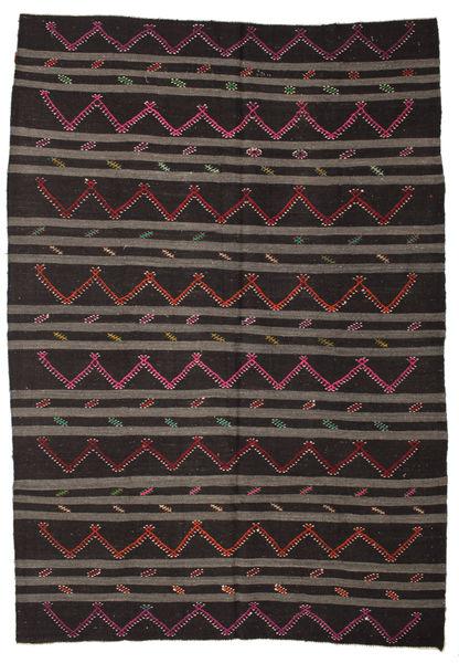 Kilim semi antique Turkish carpet XCGZF1347