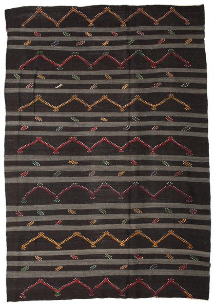 Kilim Pół -Antyk Tureckie Dywan 248X357 Orientalny Tkany Ręcznie Ciemnobrązowy/Ciemnoszary (Wełna, Turcja)