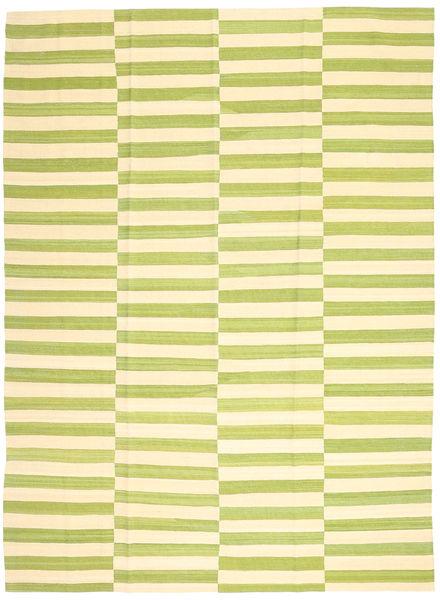 キリム モダン 絨毯 215X286 モダン 手織り ライトグリーン/黄色 (ウール, アフガニスタン)