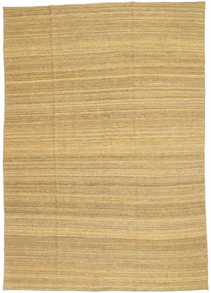 Kelim Moderni Matto 199X283 Moderni Käsinkudottu Vaaleanruskea (Villa, Afganistan)