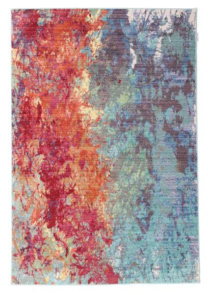 Autumn Serenade Tapijt 140X200 Modern Lichtblauw/Roestkleur ( Turkije)