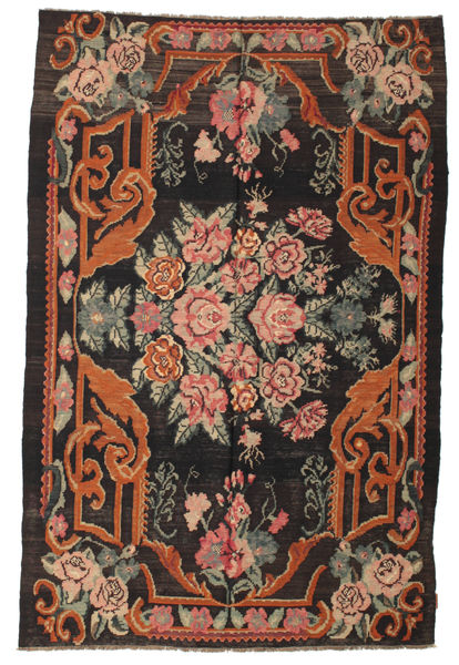 Rose Kelim Moldavia Rug 179X270 Authentic  Oriental Handwoven Black/Crimson Red (Wool, Moldova)