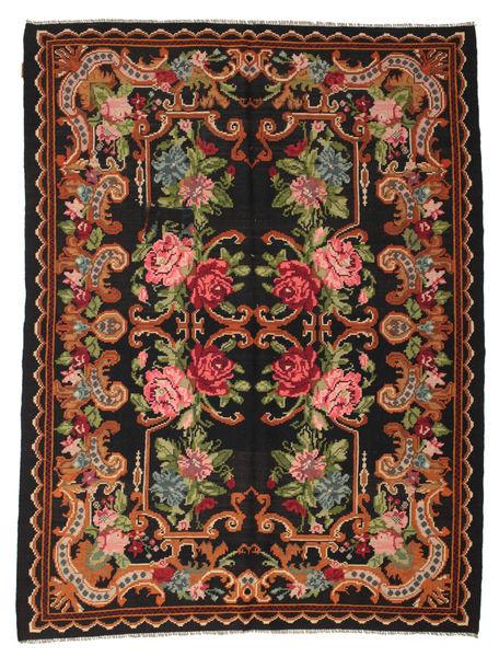 Rose Kelim Moldavia Rug 197X257 Authentic  Oriental Handwoven Dark Brown (Wool, Moldova)