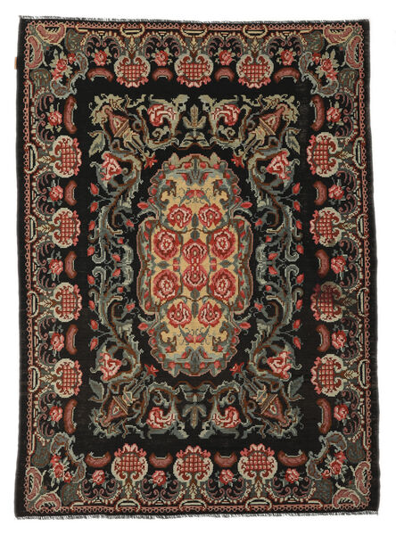 Rose Kelim Moldavia Rug 184X252 Authentic  Oriental Handwoven Black/Light Brown (Wool, Moldova)
