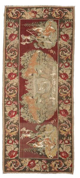 Ruusukelim Moldavia Matto 163X373 Itämainen Käsinkudottu Käytävämatto Vaaleanruskea/Ruskea (Villa, Moldova)