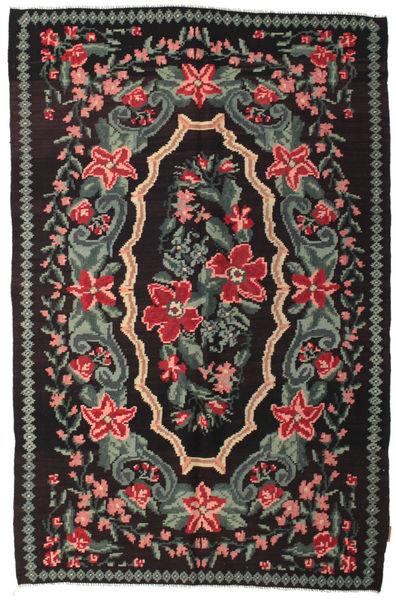 Rose Kelim Moldavia Rug 152X230 Authentic  Oriental Handwoven Black/Dark Grey (Wool, Moldova)