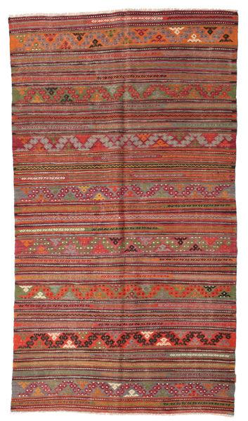 Kilim Semi Antique Turkish Rug 168X301 Authentic  Oriental Handwoven Brown/Light Brown (Wool, Turkey)