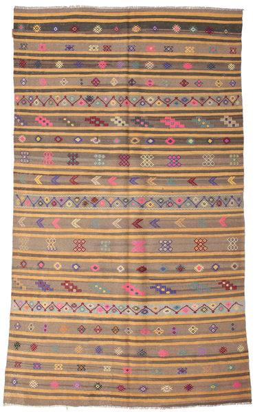 Kilim Semi Antique Turkish Rug 170X298 Authentic  Oriental Handwoven Brown/Light Grey (Wool, Turkey)