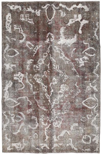 Colored Vintage Teppe 213X325 Ekte Moderne Håndknyttet Lys Grå/Mørk Grå/Lysbrun (Ull, Persia/Iran)