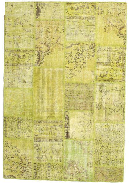 Patchwork Rug 157X233 Authentic  Modern Handknotted Yellow/Olive Green (Wool, Turkey)