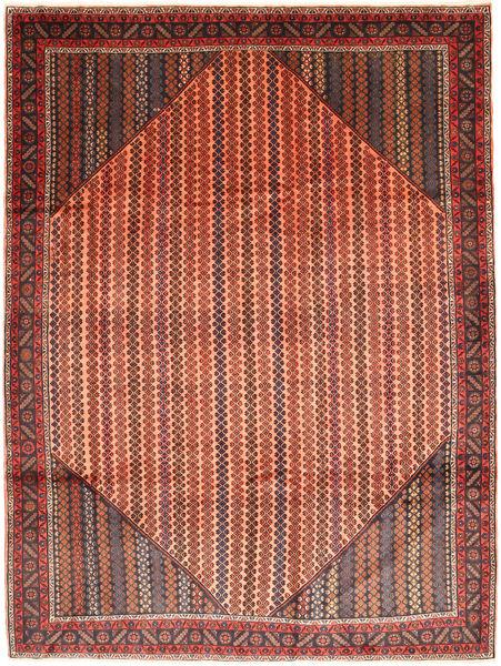 Koliai Matta 213X284 Äkta Orientalisk Handknuten Mörkröd/Roströd (Ull, Persien/Iran)