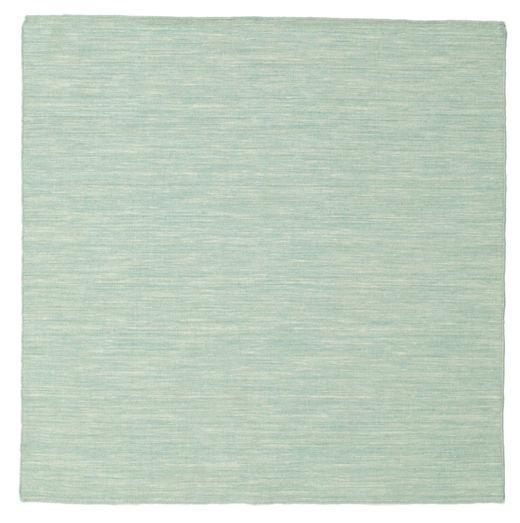 Kilim Loom - Mint Zöld Szőnyeg 150X150 Modern Kézi Szövésű Szögletes Pasztellzöld/Világosszürke (Gyapjú, India)