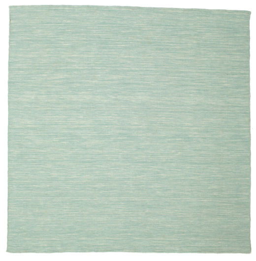 Kilim Loom - Mint Green Rug 200X200 Authentic  Modern Handwoven Square Turquoise Blue/Pastel Green (Wool, India)