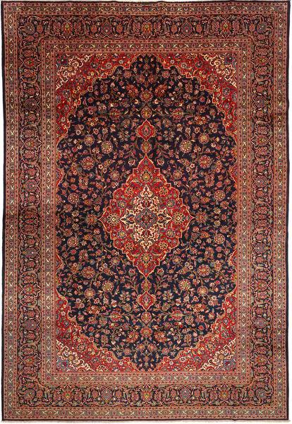 Keshan Rug 302X443 Authentic  Oriental Handknotted Dark Red/Dark Brown Large (Wool, Persia/Iran)