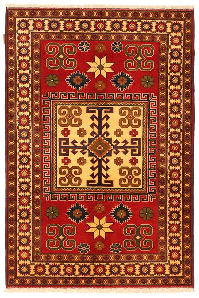 Kazak Vloerkleed 125X188 Echt Oosters Handgeknoopt Roestkleur/Donkerbruin (Wol, Pakistan)