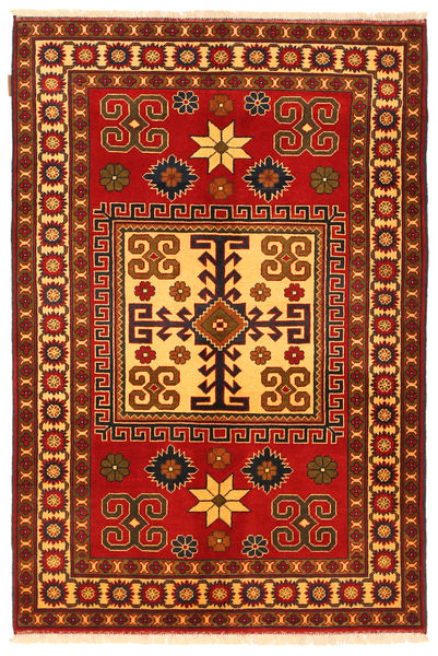 Kazak Rug 125X188 Authentic  Oriental Handknotted Rust Red/Dark Brown (Wool, Pakistan)