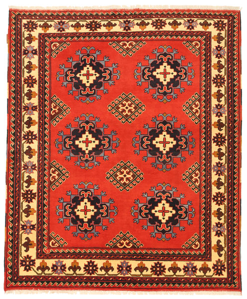 Kazak Matto 156X189 Itämainen Käsinsolmittu Oranssi/Tummanpunainen (Villa, Pakistan)