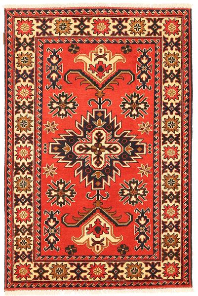 Kazak Vloerkleed 99X153 Echt Oosters Handgeknoopt Oranje/Donkerbruin (Wol, Pakistan)