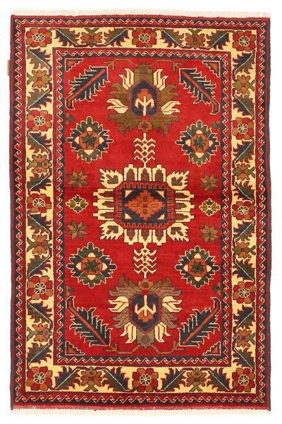 Kazak Vloerkleed 102X161 Echt Oosters Handgeknoopt Roestkleur/Donkerrood (Wol, Pakistan)