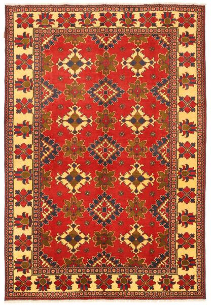 Kazak Matto 203X301 Itämainen Käsinsolmittu Ruoste/Oranssi (Villa, Pakistan)