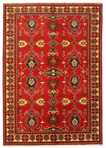 Kazak Matto 198X288 Itämainen Käsinsolmittu Ruoste/Tummanruskea (Villa, Pakistan)