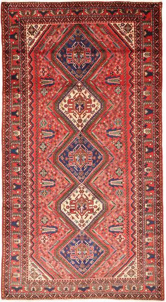 カシュガイ 絨毯 157X300 オリエンタル 手織り 深紅色の/濃い茶色 (ウール, ペルシャ/イラン)
