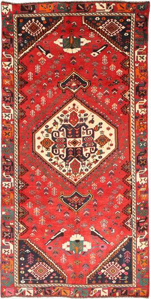 Ghashghai Matta 145X290 Äkta Orientalisk Handknuten Röd/Mörkröd (Ull, Persien/Iran)