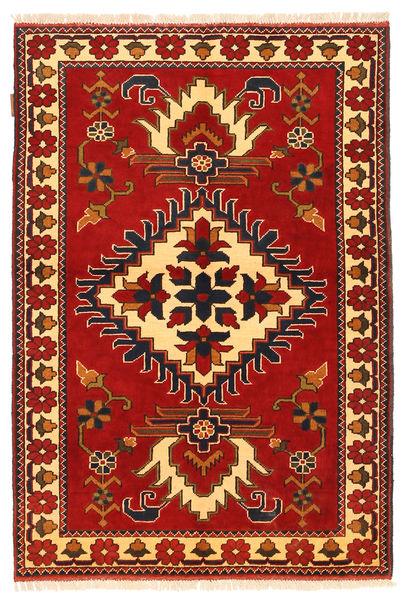Kazak Teppe 106X158 Ekte Orientalsk Håndknyttet Rust/Mørk Brun (Ull, Pakistan)