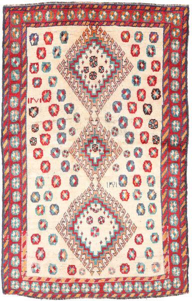 Ghashghai Matto 120X188 Itämainen Käsinsolmittu Vaaleanruskea/Vaaleanpunainen (Villa, Persia/Iran)
