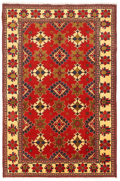 Kazak Alfombra 195X305 Oriental Hecha A Mano Óxido/Roja/Rojo Oscuro (Lana, Pakistán)