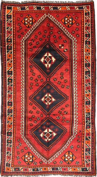 Ghashghai Matto 151X283 Itämainen Käsinsolmittu Tummanpunainen/Oranssi (Villa, Persia/Iran)
