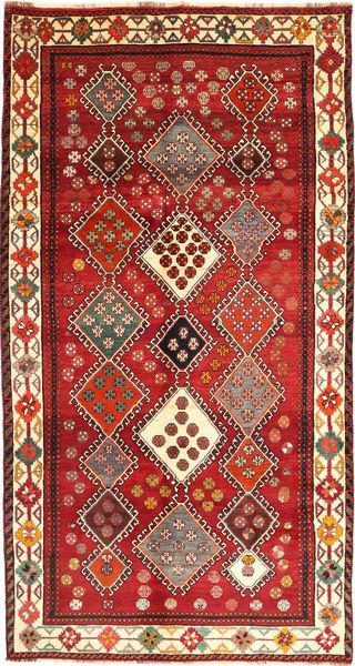 Ghashghai Teppich  149X285 Echter Orientalischer Handgeknüpfter Dunkelrot/Rost/Rot (Wolle, Persien/Iran)