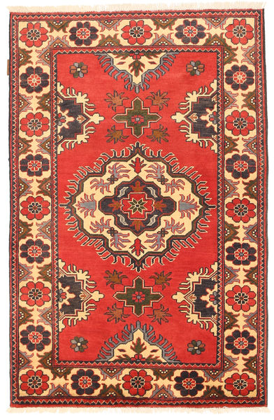 Kazak Vloerkleed 99X154 Echt Oosters Handgeknoopt Oranje/Donkerrood (Wol, Pakistan)