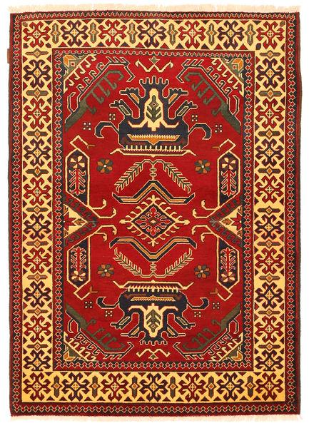Kazak Matta 126X177 Äkta Orientalisk Handknuten Roströd/Mörkbrun (Ull, Pakistan)