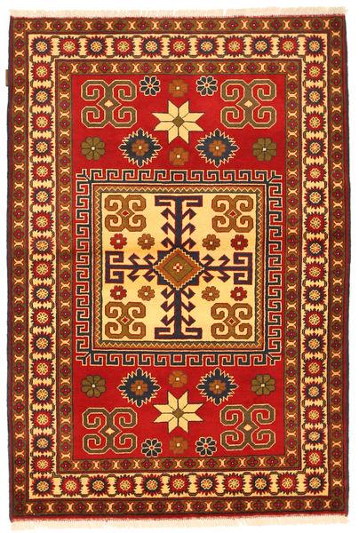 Kazak Matto 123X184 Itämainen Käsinsolmittu Ruoste/Tummanruskea (Villa, Pakistan)